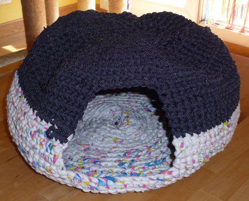 Coussin Pour Chat Au Crochet En Trapilho Les Lubies Deveine